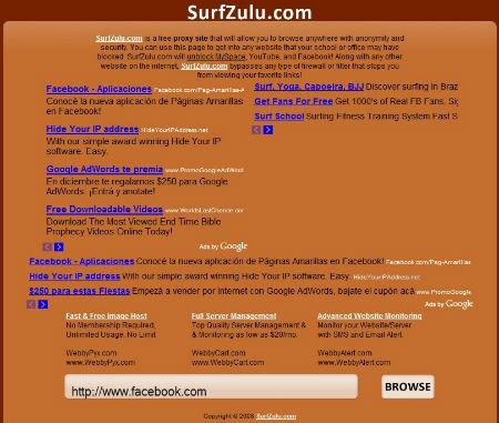 Surfzulu Surfzulu para acceder a sitios bloqueados online