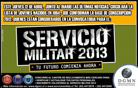 informacion del servicio militar 2013 450x287 Lista sorteados al servicio militar 2012 en Chile