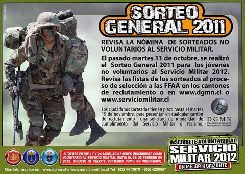sorteo2012 Lista sorteados al servicio militar 2012 en Chile
