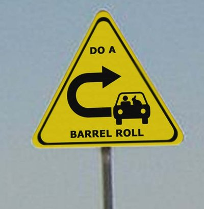 Do a barrel roll Do a barrel roll y Z or R twice, Google da vuelta en 360
