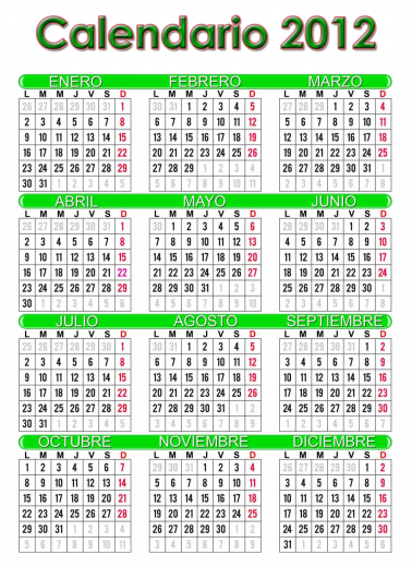 calendario 2012 español grande imprimir 378x520 Ver Calendario 2012 en español, grande para Imprimir