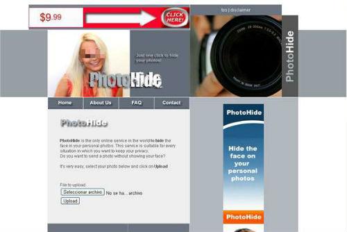 Photohide Photohide para difuminar fotos online
