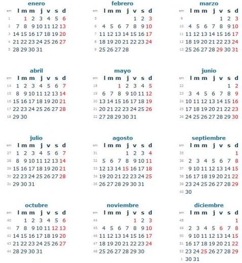 Calendario 2013 en España con feriados imprimir 477x520 Ver Calendario de España 2013 con feriados (para imprimir)