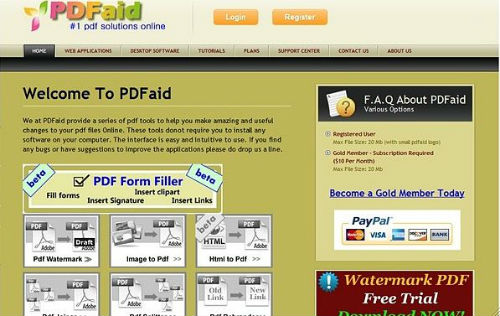 PDFaid PDFaid para trabajar con documentos PDF online
