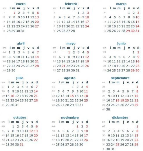 Ver Calendario 2013 CHILE con feriados grande 494x520 Ver Calendario 2013 en CHILE, con feriados