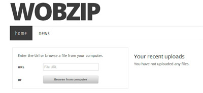 WobZip WobZip para descomprimir archivos online