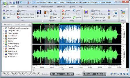 Power Sound Editor Free Descargar Power Sound Editor Free para edición de audio