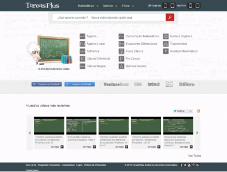 Tareasplus Tareasplus para encontrar videos tutoriales educativos online