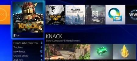 PS4 Interfaz de usuario