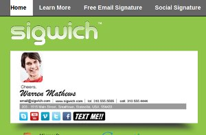 Sigwich Email Signature