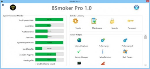 8Smoker Pro 520x239 8Smoker Pro, optimizar Windows 8