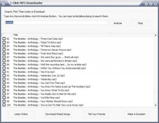1-Click MP3 Downloader