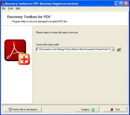 PDF Recovery Toolbox