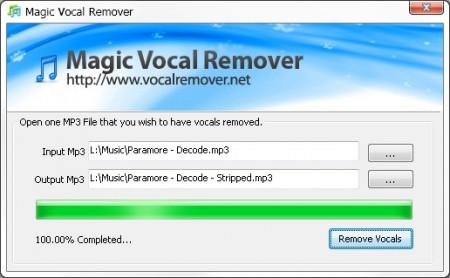 Magic Vocal Remover