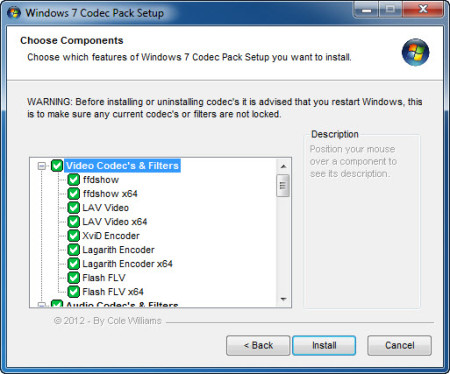 Windows 7 Codec Pack