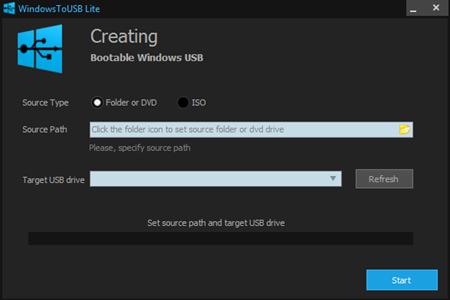 WindowsToUSB Lite